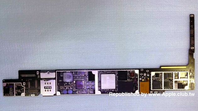The reported motherboard and A8X chip in the next iPad