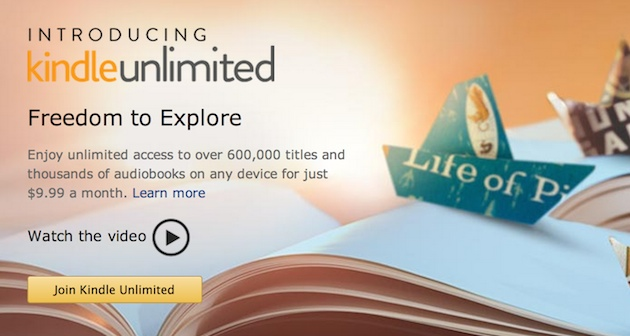Amazon's Kindle Unlimited offers all-you-can-eat e-books for $10 a month