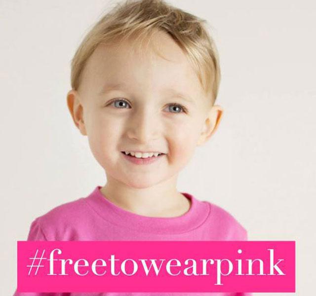 #Freetowearpink social media campaign
