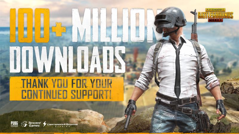 'PUBG' mobile app surpasses 100 million downloads