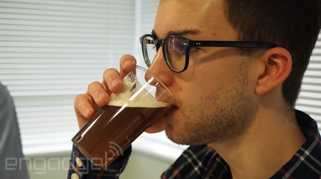 Drinking a pint from an espresso-inspired beer tap