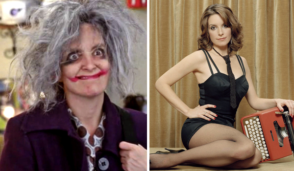 hot girls who played ugly, hot girl ugly tv character, tina fey 30 rock