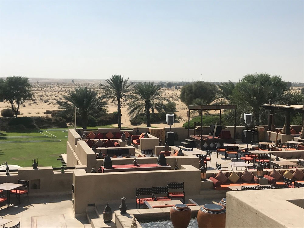Bab Al Shams Desert Resort - rooftop.