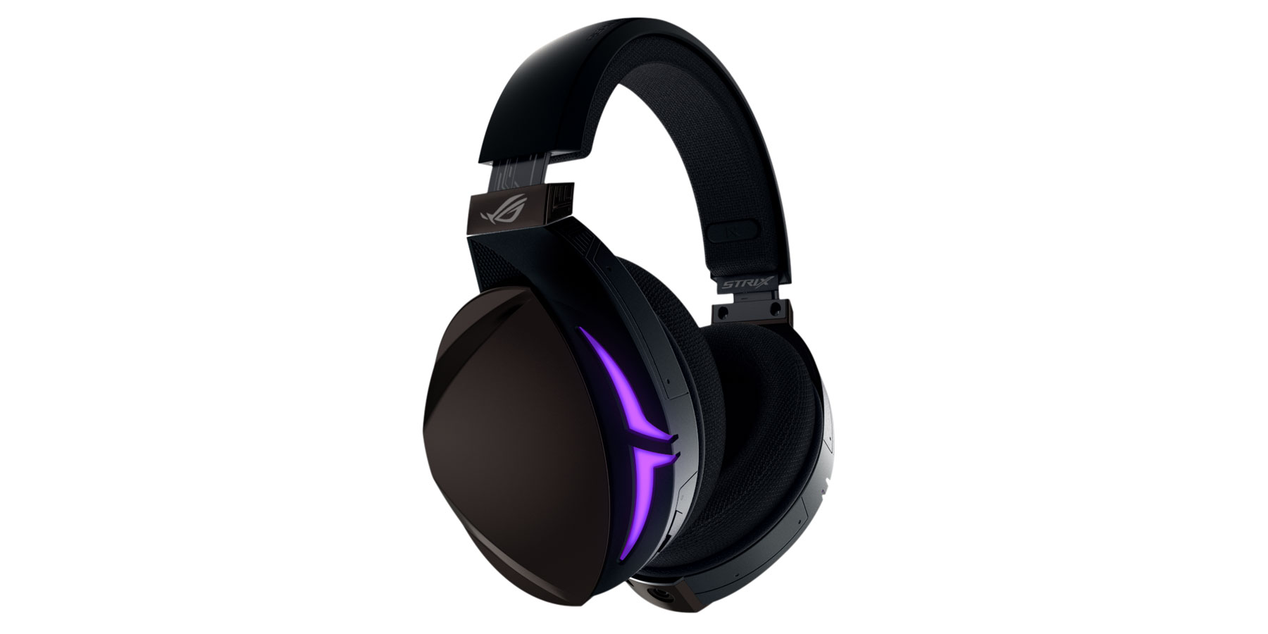 The colorful Strix Fusion headset can blink in sync with others