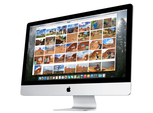 Apple's Photos app on an iMac
