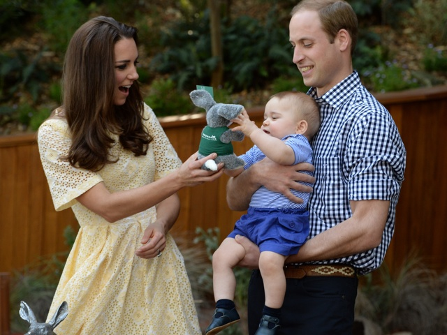 The Duke and Duchess of Cambridge and Prince George visit the Nightlife display at Taronga Zoo, view a Bilby and officially name the Prince George Bilby Exhibit, as part of their tour of New Zealand and Australia in Sydney, Australia, on April 20, 2014 <P> Pictured: Prince William, Duke of Cambridge, Catherine, Duchess of Cambridge and Prince George <P><B>Ref: SPL741934  200414  </B><BR/> Picture by: James Whatling / Splash News<BR/> </P><P> <B>Splash News and Pictures</B><BR/> Los Angeles: 310-821-2666<BR/> New York: 212-619-2666<BR/> London: 870-934-2666<BR/> photodesk@splashnews.com<BR/> </P>
