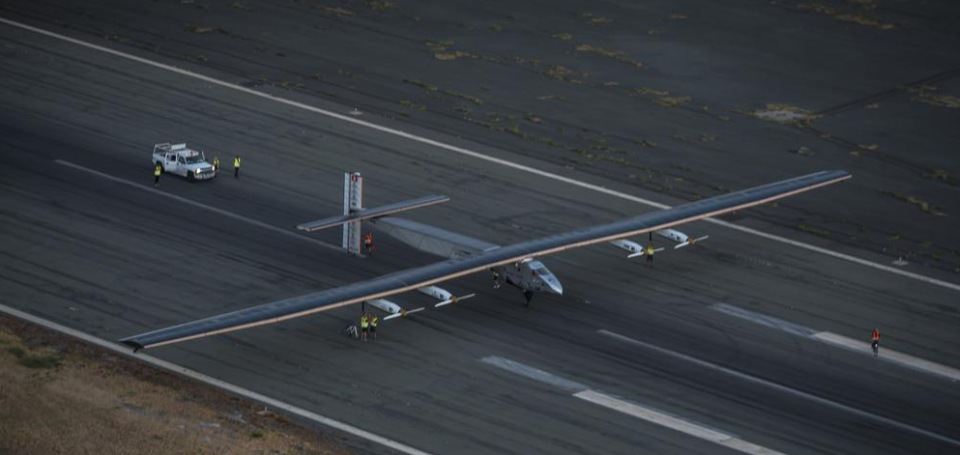 Solar Impulse on the runway