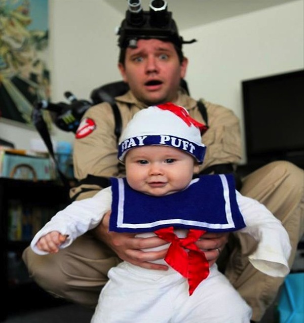 funny dads, best dads, father son ghostbusters