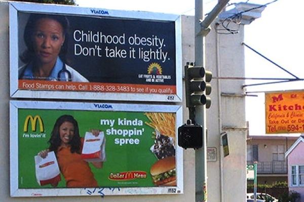 funny ironic photos, irony photos, ironic obesity billboards