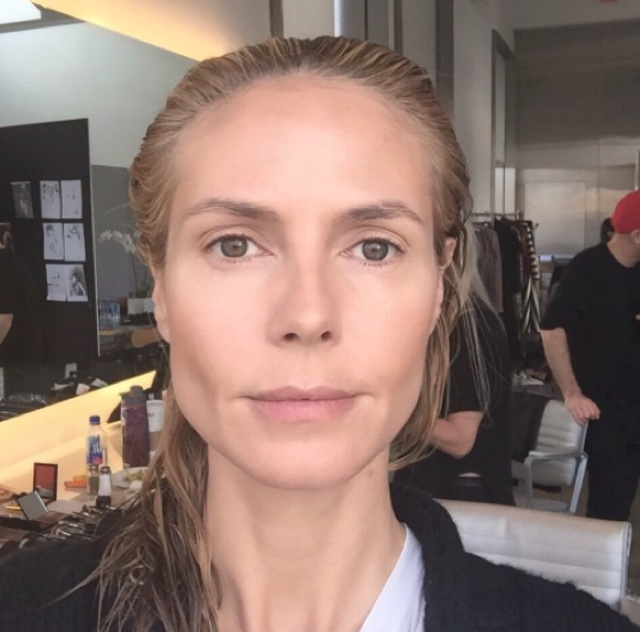Heidi Klum posts stunning before and after makeup pics