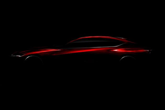 アキュラ、次世代デザインを表現したコンセプトカーのティーザー画像を公開