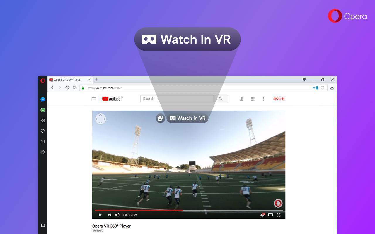 Opera: Browser übergibt Videos automatisch an VR-Headsets