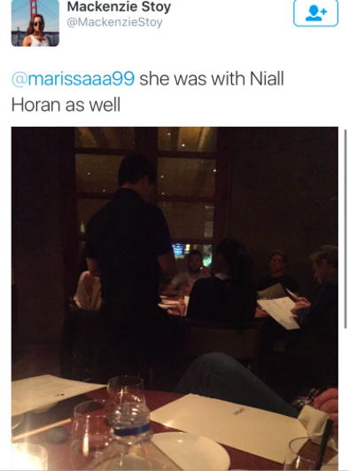 niall horan and selena gomez dinner