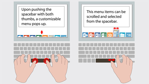 Synaptics SmartBar keyboard example