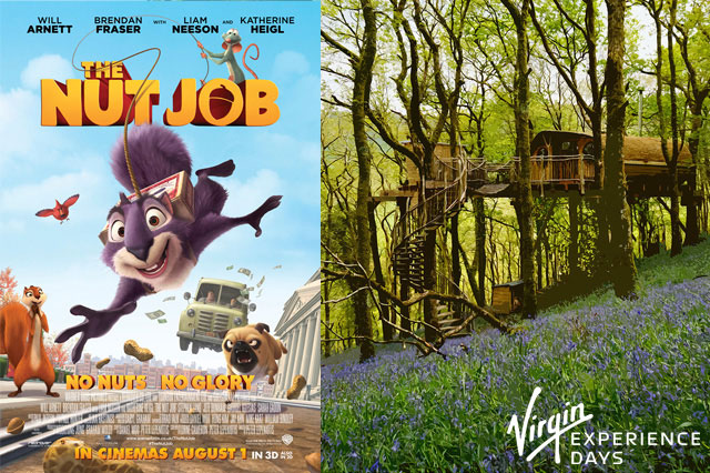 WIN a family 2-night luxury treehouse break with THE NUT JOB!