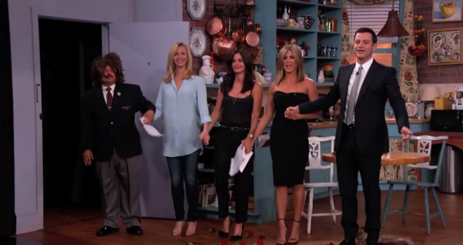 friends, friends reunion, jennifer aniston, courtney cox, lisa kudrow, jimmy kimmel