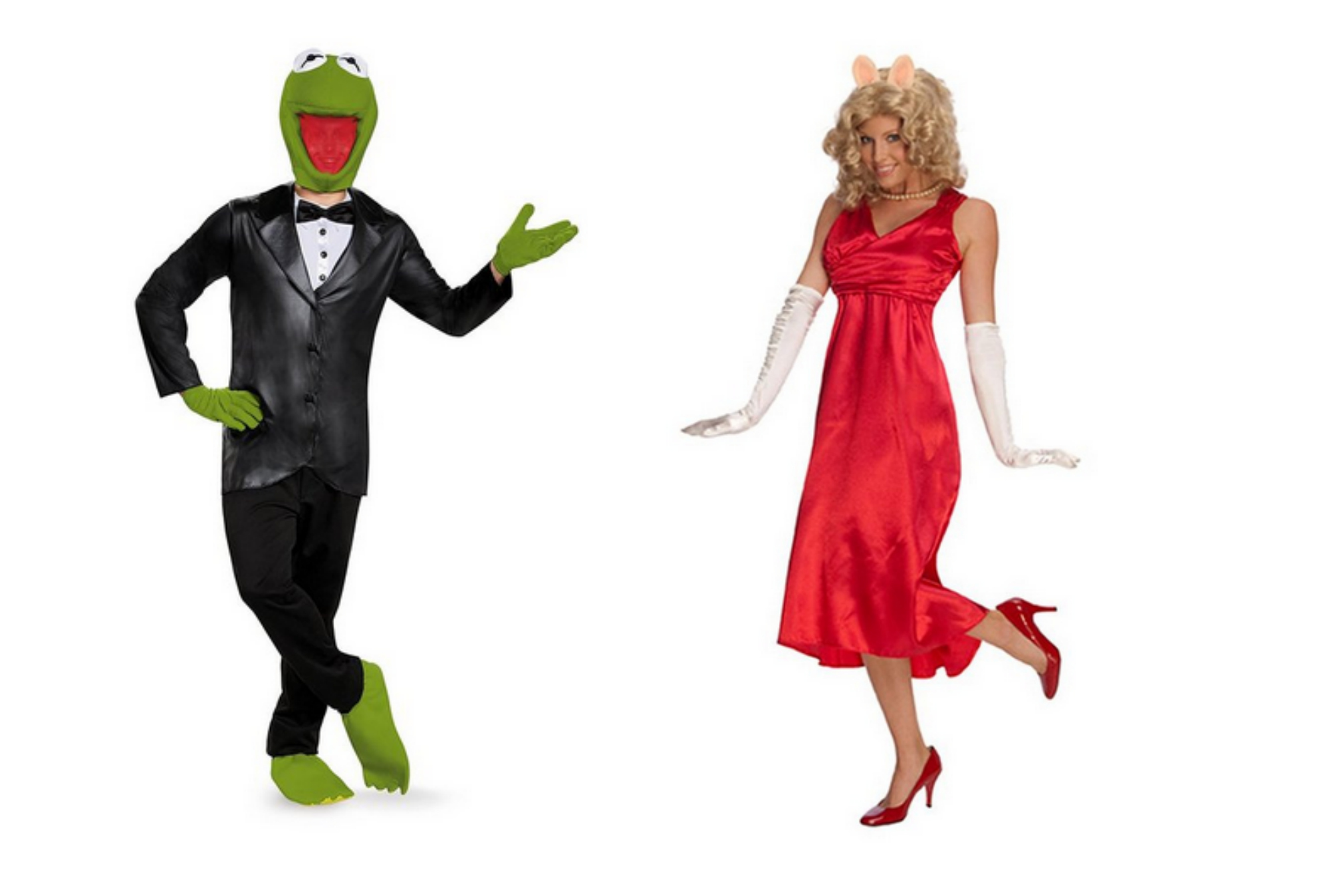 Kermit and Miss Piggy Halloween Couples Costume