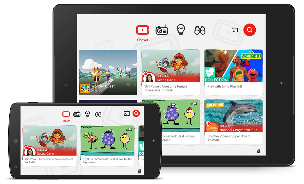 YouTube Kids streams content on Chromecast, Apple TV and more