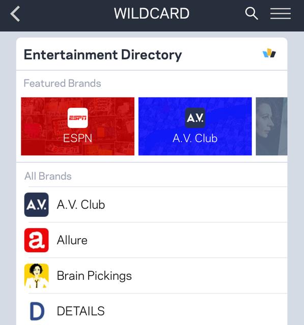 Wildcard Entertainment Directory