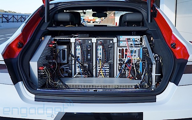 Audi RS 7 trunk electronics