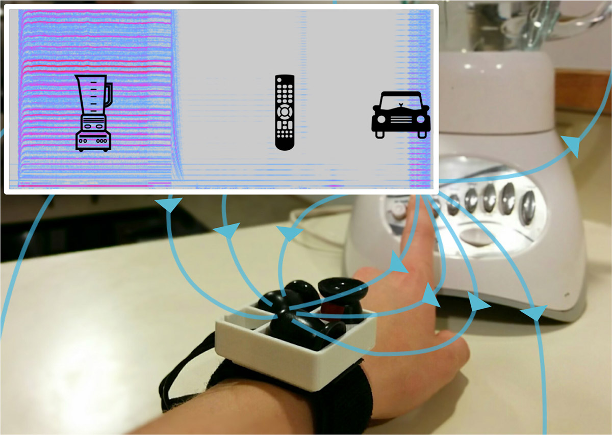 Wrist sensor logs the devices you use and your power consumption