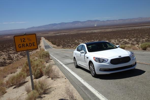 Kia desert testing