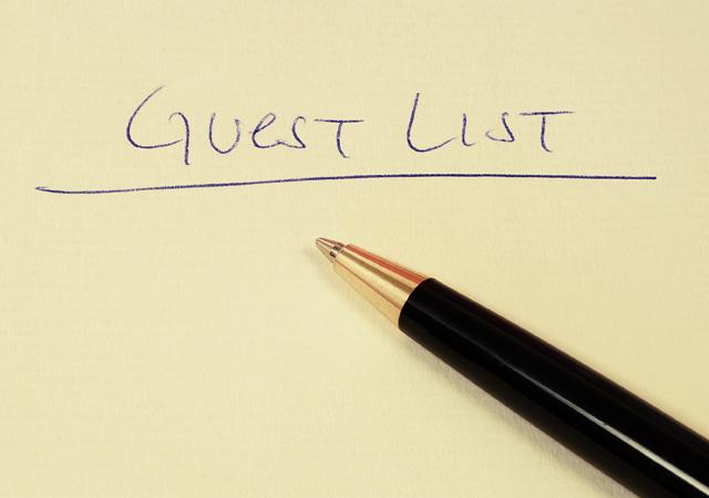 weddings guest list bride