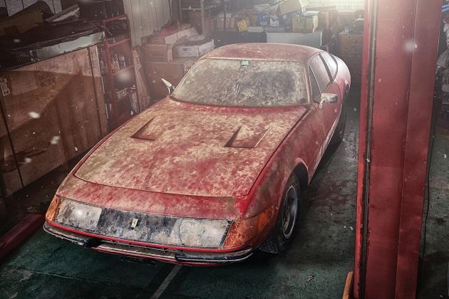 納屋に眠っていた、世界に1台しかないアルミ製ボディを持つフェラーリ「365 GTB/4」
