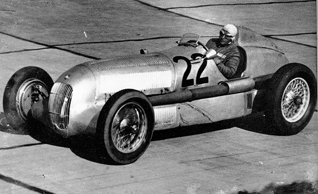 The first Silver Arrows race car, the Mercedes W25 at the 1934 Eifel race.