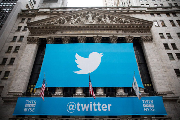 Twitter banner on the company's IPO day