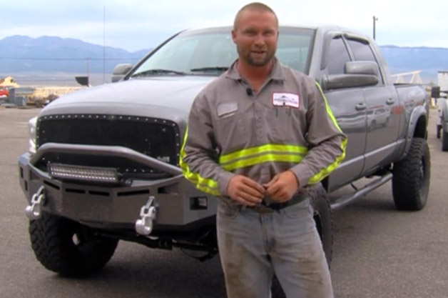 Bryson Rowley with his 2008 Dodge Ram 2500