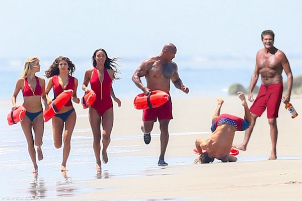 Zac Efron Fell On The Set Of 'BayWatch' And The Internet Refuses To Let Him Forget It