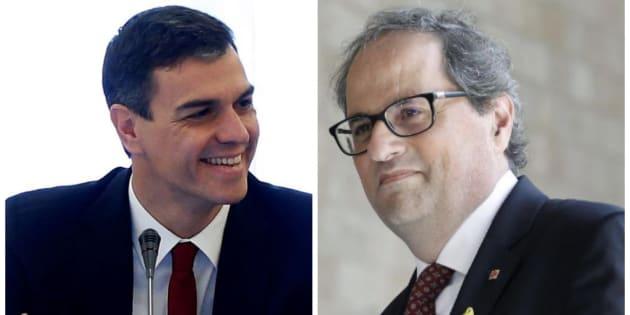 Pedro Sánchez y Quim Torra hablan por teléfono y se emplazan a verse pronto