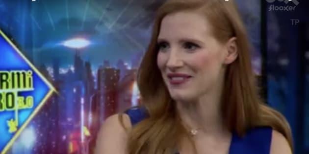 Jessica Chastain matiza en directo a Pablo Motos tras esta pregunta sobre igualdad en 'El Hormiguero'