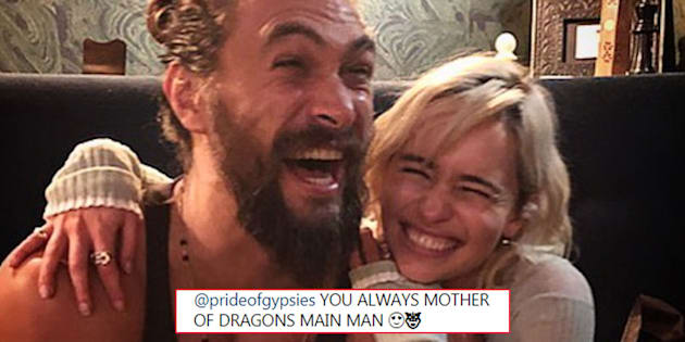 Emilia Clarke and Jason Momoa Had a Game of Thrones' Reunion and It's Too Damn Much