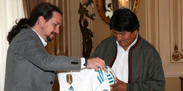 La razón por la que este regalo de Iglesias a Evo Morales está generando críticas