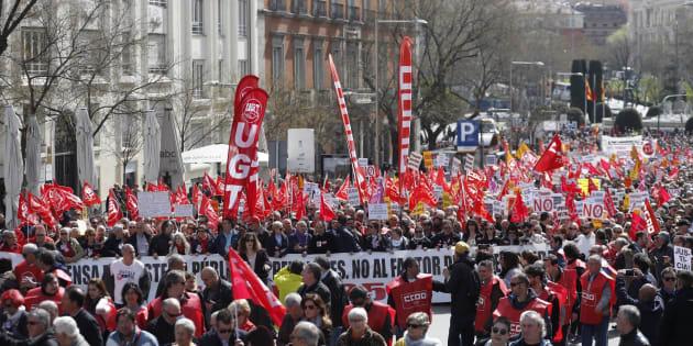Miles de pensionistas vuelven a la calle para reivindicar pensiones dignas