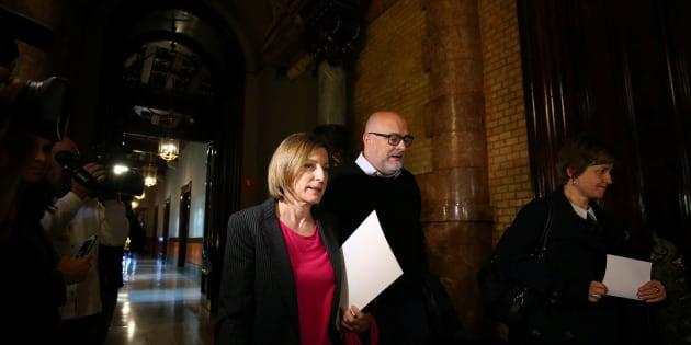 Forcadell reaparece en el Parlament