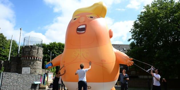 Así ridiculizarán a Trump en su visita a Londres