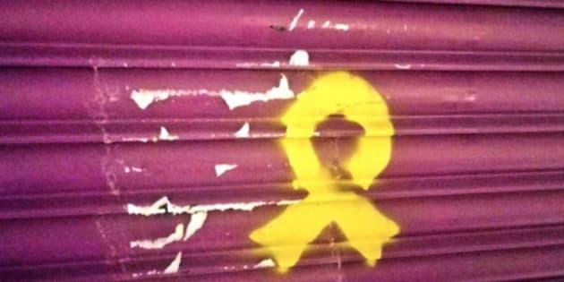 Nuevas pintadas independentistas en la tienda de los padres de Albert Rivera