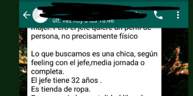 Una chica triunfa al compartir la repugnante oferta de trabajo que ha recibido por WhatsApp