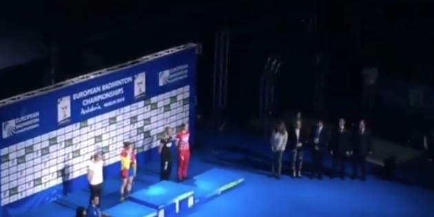 susana díaz pitada entrega medallas campeonato europa bádminton
