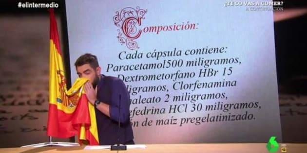 El contundente mensaje de Dani Mateo a los ofendidos por su 'sketch' de la bandera