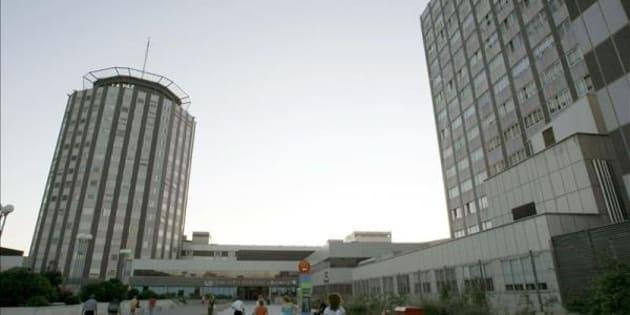 Las Urgencias del Hospital de La Paz de Madrid, inundadas por la lluvia