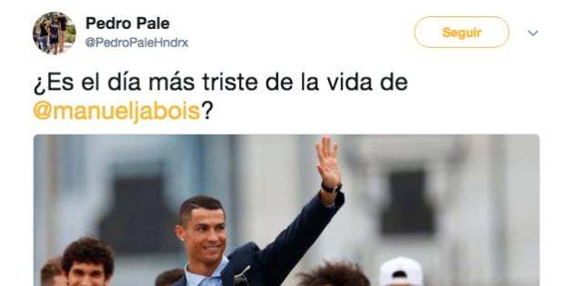Le preguntan a Manuel Jabois si es el día más triste de su vida por lo de Ronaldo y no sabemos qué decir de su contestación