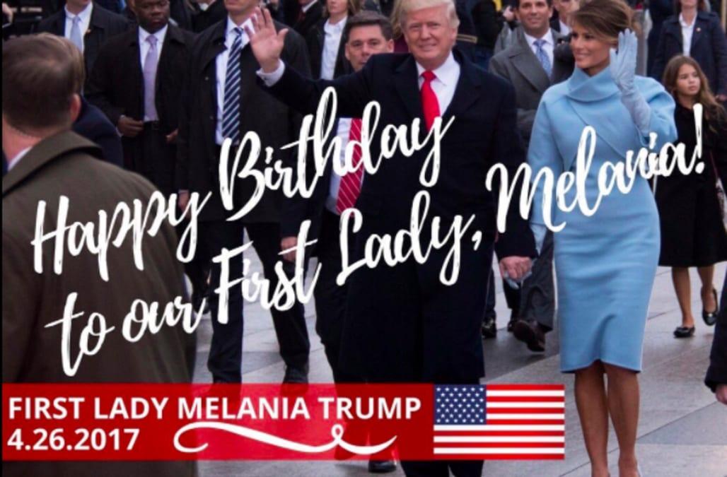 Поздравление с днем рождения от трампа