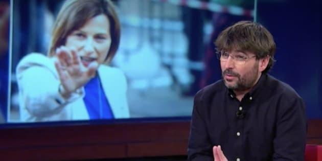La contundente petición de Jordi Évole tras darle Forcadell un carácter simbólico a la DUI