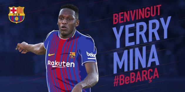 El Barcelona ficha al central colombiano Yerri Mina