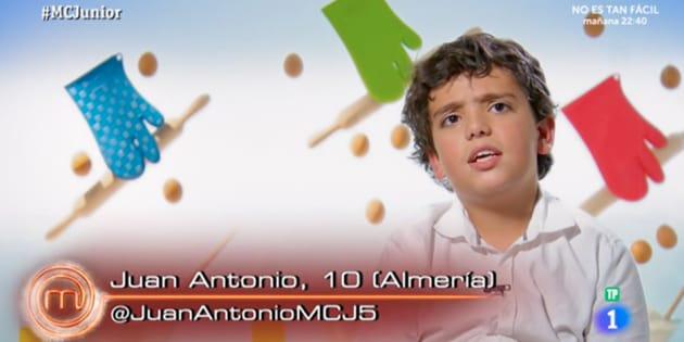 La desconcertante teoría de Juan Antonio, de 'MasterChef Junior', sobre el nitrógeno