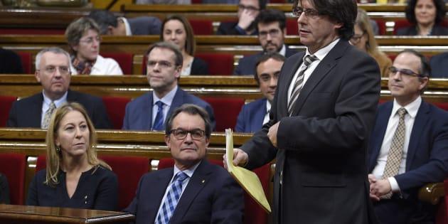 Se cumplen dos años de la investidura del Puigdemont que descartó la DUI